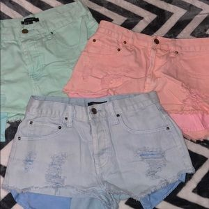 Forever 21 short bundle